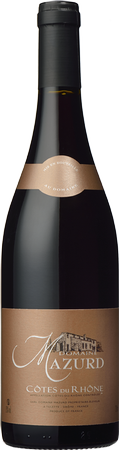 Carte Marron red Cotes du Rhone 2012